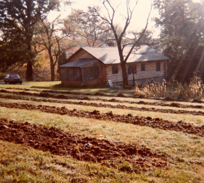 1983: prepping the soil for the first Taggart's apple trees